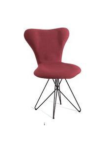 Cadeira Jaçobsen Butterfly Aço T1076 Linho Marsala Daf Marsala