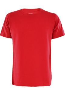 Camiseta Gajang Sem Costura Gola Careca Vermelho