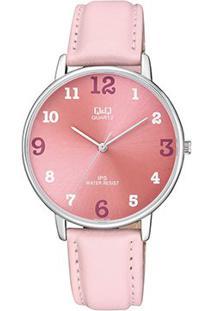 Relógio Qq De Pulso Analógico Qz00J305Y Feminino - Feminino-Rosa