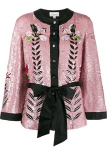 Temperley London Jaqueta 'Magnolia' - Rosa