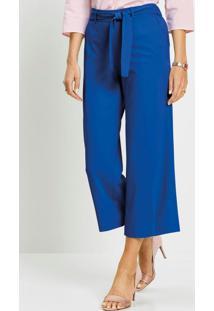 Calça Pantacourt Alfaiataria Azul Royal