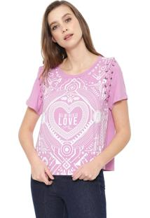 Camiseta My Favorite Thing(S) Trançados Rosa