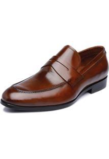 Sapato Social De Couro Viccini Loafer Loretto-01 Damasco