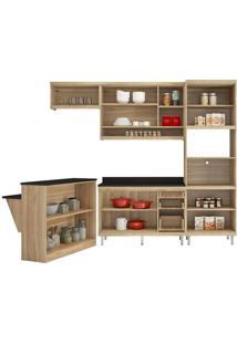 Cozinha Compacta Multimóveis Sicília 5844.132.694.610 Argila Vermelho Se