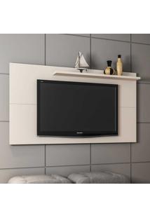 Painel Para Tv Até 50 Polegadas 1 Prateleira Chanel 2075331 Off White - Bechara Móveis