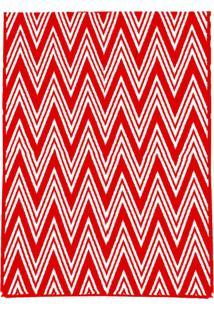 Tapete Andino Geométrico I Retangular Polipropileno (150X200) Vermelho