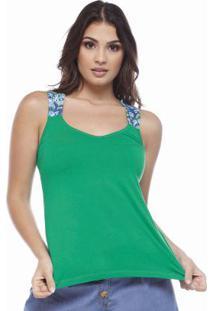 Blusa Nadador Com Alça Estampada Verde