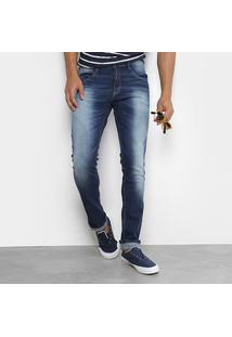 Calça Jeans Skinny Biotipo Estonada Masculina - Masculino-Azul Escuro