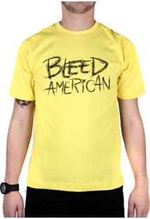 Camiseta Bleed American Logo Amarela
