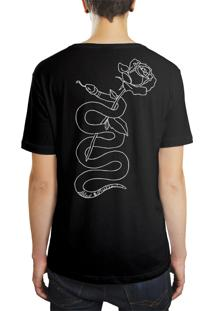 Camiseta Hunter Rose Snake Preta