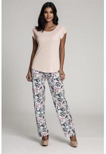 Pijama Recco Comprido Microf Supermicro Rosa - Rosa - Feminino - Dafiti