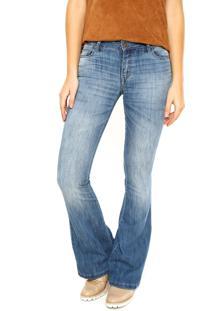 4b2ea5f8a ... Calça Jeans Ellus Flare Estonada Azul