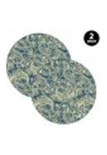 Capa Para Sousplat Mdecore Abstrato Verde 2Pçs