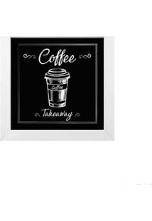 Quadro Decorativo Café Ii 23X23Cm Branco Infinity