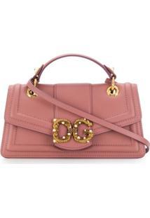 Dolce & Gabbana Bolsa Transversal Dg Amore - Rosa