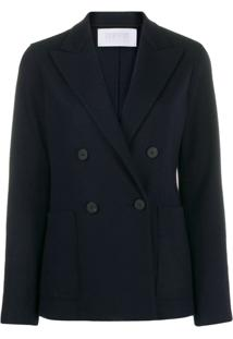 Harris Wharf London Blazer Slim De Lã - Azul