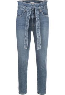 Alice+Olivia Calça Jeans Skinny Good Cintura Alta - Azul