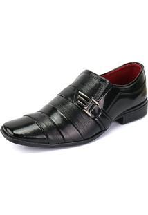 Sapato Social Rebento Bico Fino Preto
