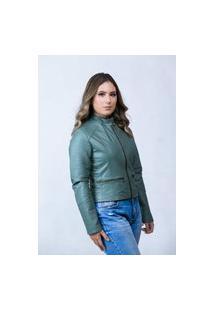 Jaqueta De Couro Parra Couros Feminina Bela Verde
