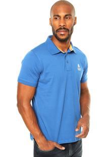 Camisa Polo Zebra Origin Azul