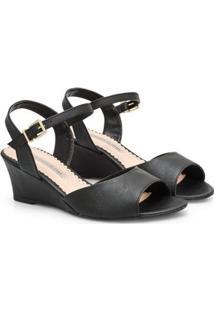 Sandália Napa Dubai Sapatinho De Luxo Feminina - Feminino-Preto