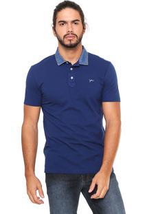... Camisa Polo Yachtsman Gola Jeans Azul 37a582fa36240