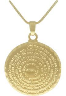 Colar Lihanna Metal Pai Nosso Dourado Mj24051