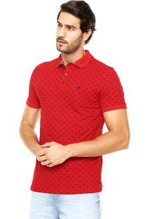 Camisa Polo Malwee Bordado Vermelho