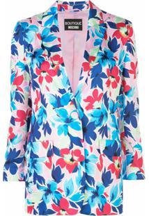 Boutique Moschino Blazer Com Estampa Floral - Rosa