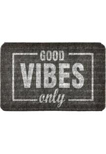 Capacho Carpet Good Vibes Only Cinza Único Love Decor