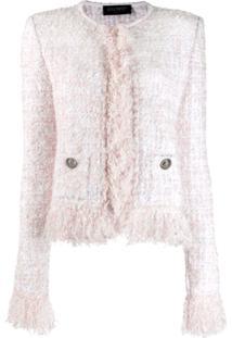 Balmain Boucle Knit Jacket - Branco