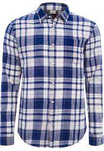Camisa Masculina Los Roques - Azul