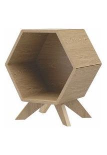 Mesa Lateral Hexagonal Dolce Cor Carvalho - 56365 Carvalho