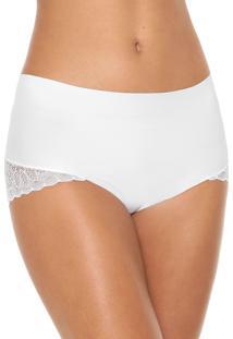 Calcinha Liz Hot Pant Renda Branca