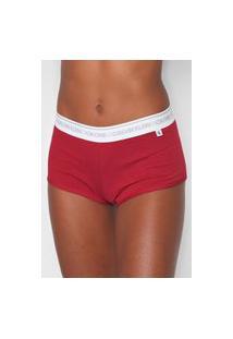 Calcinha Calvin Klein Underwear Boxer Basic Vermelha