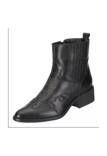 Bota Feminina Dududias10 Ankle Boot 10032 Rust Preta