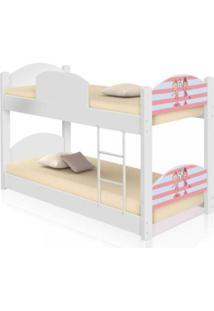 Beliche Infantil Bailarinas Casah - Branco/Rosa - Menina - Dafiti