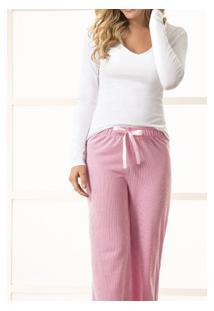 Pijama Longo Risca De Giz Feminino Malwee (1000037378)