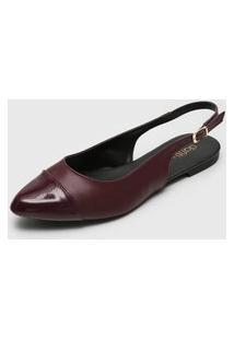 Sapatilha Dafiti Shoes Slingback Vinho