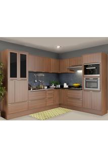 Cozinha Completa 19 Portas 4 Gavetas 5461Rmf610 Nogueira/Malt - Multimóveis