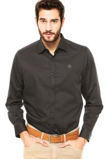 Camisa Forum Regular Fit Cinza Escuro