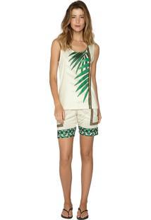 Pijama Regata Under The Palms Lua Luá Verde