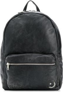 Diesel Vintage Leather Backpack - Preto