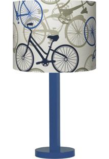 Abajur Carambola Bikes Iii Azul - Azul - Dafiti