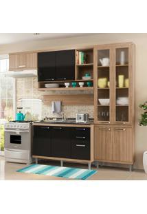 Cozinha Compacta 5 Peças 5816-S9 - Sicília - Multimóveis - Argila / Preto