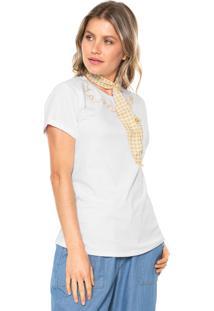 Camiseta Lez A Lez Penteada Branca