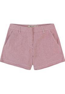 Shorts Feminino Em Tecido Texturizado De Algodão E Elastano