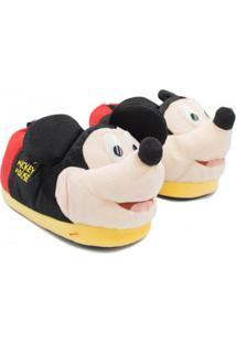 Pantufa Ricsen Mickey Mouse Feminina - Feminino-Preto
