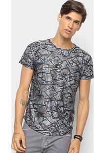 Camiseta Watkins & Krown Geométrica Masculina - Masculino-Marrom+Verde