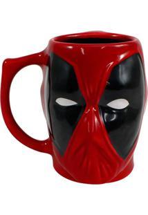 Caneca 3D Deadpool Geek10 Vermelho